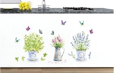 Samolepky s motivem květin