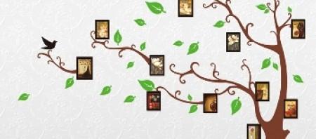 samolepky na zeď stromy