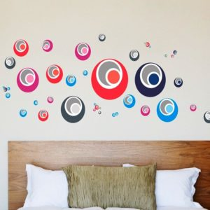 Samolepka -Pastelové kruhy