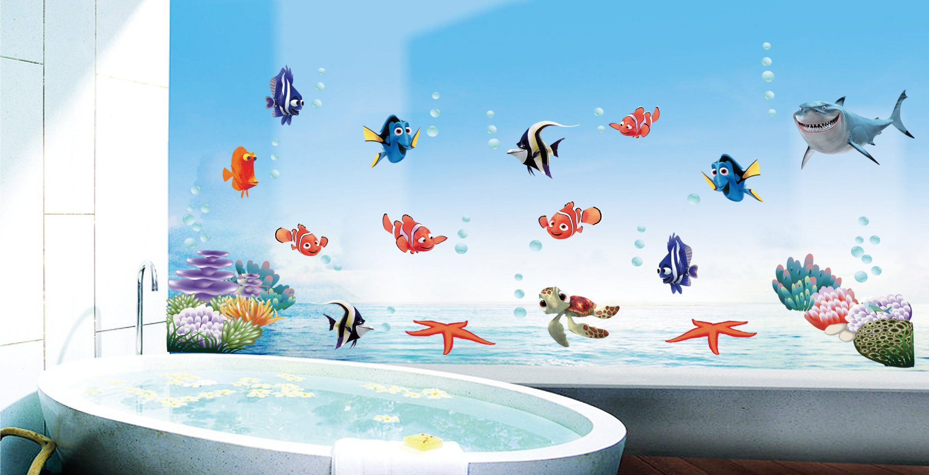 Finding nemo bathroom