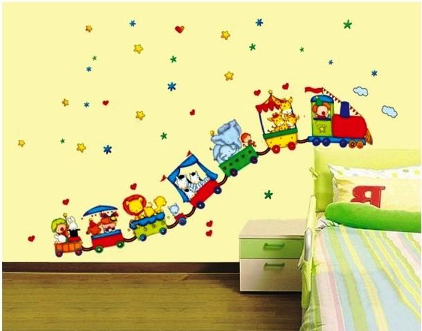 Dětské samolepky na zeď sleva